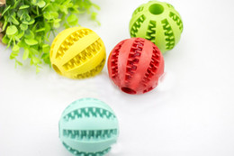 Wholesale Quality Dog Toys Wholesale - Pet Dogs Chew Toys High Quality Rubber Round Ball for Teddy Large Dogs Puppies Bite Molar Clean Teeth