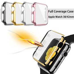 Wholesale Watches Cases Wholesale - New For Apple Watch 38 42MM iWatch Slim Full Body Plating Cover Shell Snap On Case