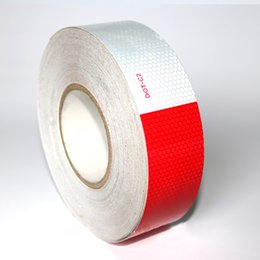 Wholesale Reflective Tape For Trucks - Dot Reflective Warning Tape For Trucks Honeycomb Pattern Wholesaler High Bright Red And White Color Waterproof Film