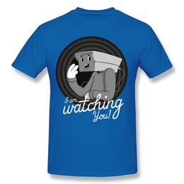 Wholesale Formal List - Funny T Shirts For Sale Mens Formal Shirts Personalized T Shirts cartoon printed 2017 new listing I am Watching You
