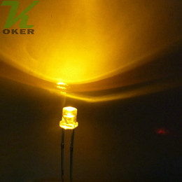 Flache top-leds online-1000 stücke 3mm Gelb Flat top LED-Licht Lampe led Dioden 3mm Flat Top Ultra Helle Weitwinkel-leds Kostenloser Versand