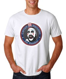 Wholesale zombies t shirt - Captain Spaulding For President T-Shirt, Rob Zombie Devils Rejects Halloween 666 100% Cotton Short Sleeve Summer T-Shirt