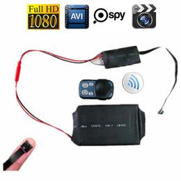 Wholesale Battery Dvr - 32GB HD 1080P DIY Module SPY Hidden MINI DV DVR Camera Camcorder Video & Audio Recorder Motion with Remote Control & 3800mAh Battery