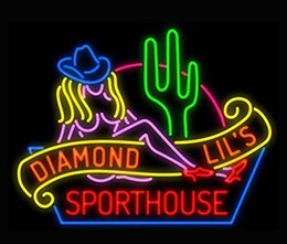 Wholesale New Diamond Neon - New Sexy Diamond Lil's Sporthouse Neon Sign Handicrafted Real Glass Tube Neon Light Beer Lager Bar Pub Sign Optional size