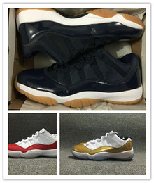 Wholesale Navy Boys - With box 11 low Metallic Gold men basketball shoes boy 11s Low Varsity Red navy gum size 41-47 wholesale
