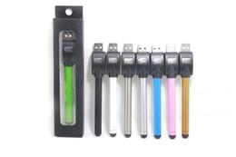 Wholesale Mini Slim - Vape Pen Ecig Vaporizer 510 Bud Touch Battery Mini Slim Open Auto Batteries For Ce3 Cartridge Atomizer Vapes DHL free w1205540 shipping