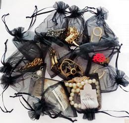 Argentina Bolsos del Organza del color negro Bolso del abrigo del regalo de la boda Bolso del cordón bolsos del caramelo Bolsas de la joyería paquete bolsos corazón Suministro