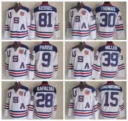 Wholesale Usa Olympics Hockey Jersey - 2010 Team USA Hockey Jersey Ice OLYMPIC Blue 9 Zach Parise 88 Patrick Kane 81 Phil Kessel 28 Brian Rafalski 39 Miller 15 Langenbrunner