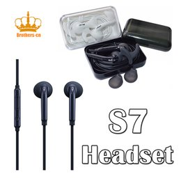 Wholesale Earphones S4 - 3.5mm Headset Earse i4 S7 In-Ear Stereo Earphone Earbuds Headset with MIC for iPhone Samsung Galaxy S7 S6 S5 S4 S3 S2