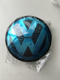 Wholesale Hot Badge - Hot Sale 65mm Car Wheel Cover Badge Wheel Hub VW Center Caps Emblem For VW 2010 TOUARET