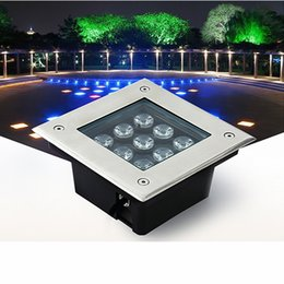 Wholesale Ac Deck - LED underground lights square inground deck wall garden path buried floor stair landscape lamps 3W 4W 5W 6W 9W 12W 16W 24W 36W