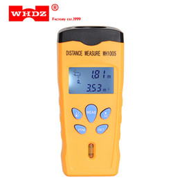 Wholesale Ultrasonic Testers - DHL 20PCS WHDZ WH1005 Ultrasonic Laser Distance Meter Mini Range Finder Pointer Area Volum Meter Measure Tester Portable 0-18M Backlight