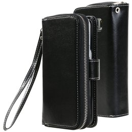 Wholesale Mobile Phone Leather Lanyard - Flip Stand Wallet Leather For Samsung Galaxy S7 split card wallet card lanyard Samsung S7 mobile phone sets clamshell protective holster