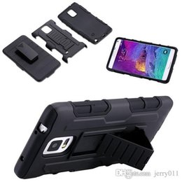 Wholesale S4 Full Case - 4 Styles Future Armor Hybrid Case Military 3 in 1 Combo Cover For Samsung Galaxy Note 4 Note 3 S4 S5 Stand Case Triple Full Capa