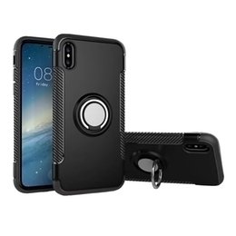 Wholesale Customized Rings - For Iphone X Ring Car Phone Holder Case Magnetic Cellphone Cover For Iphone 6 6s 7 8 Plus Samsung S8 Plus J3 With OPPBAG