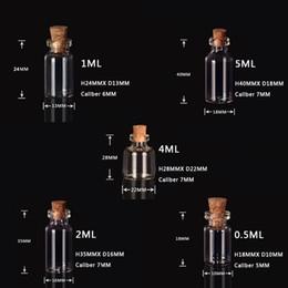 0.5ML 1ML 2ML 4ML 5ML Fläschchen Durchsichtige Glasflasche mit Korken Miniaturglasflasche mit Korken Leere Probegläser / Nachricht Hochzeiten Schmuck wünschen von Fabrikanten