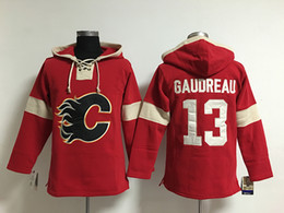 Wholesale Kids Boys Hoodies - Youth Hockey Jersey Cheap, Calgary Flames Hoodie 5 Mark Giordano 13 Johnny Gaudreau Kids 100% Stitched Embroidery Logos Hoodies Sweatshirts