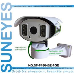 Wholesale Pan Tilt Control - SunEyes SP-P1804SZ-POE 2.0MP Full HD POE IP Camera 1080P Outdoor Waterproof PTZ Pan Tilt Zoom Control Zoom Rotation Array IR Night 100M