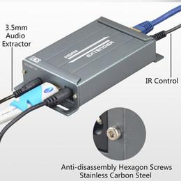 Freeshipping IP Lan Réseau HD 1080P Extender HDMI TX / RX 150M avec IR sur CAT6 Câble Ethernet RJ45 Support HDMI 3D pour HDTV Lecteur DVD ? partir de fabricateur
