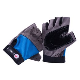 Wholesale Sports Protective Fitness Glove - Wholesale-Fitness Gloves Cycling golve Half finger Anti-skid Protective men's women Gym Gloves Weight Lifting for Sport