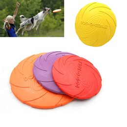 Wholesale Fly Pets - Pet Dog Flying Disc Tooth Resistant Training Fetch Toy Play Frisbee High Quality New Selling Hottest Dogs Toys Funny Play Balls