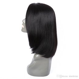 Wholesale Ship Images Large Size - Short Bob Lace Wigs Real Images 7a Indian Lace Front Wig For Women Short Length Straight Lace Front Human Hair Free Shipping