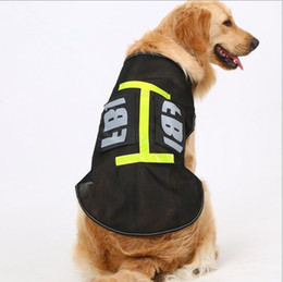 Wholesale F Clothing - Pet Dog Reflective Clothes Working Big Dog Clothing Style Coat Dog Vest Summer Wear Costum Jacket F