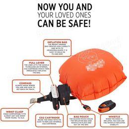 Wholesale Buoy Vest - Portable Anti-Drowning Life Saving Wristband Swimming Tools Underwater Lifesaving Emergency Equipment Submersible Bracelets Life Vest Buoy