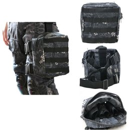 Wholesale Airsoft Bags - Army Military Molle Tactical DUMP Drop Leg Panel Utility Pouch Paintball Airsoft Storage Magazine Pouch Waist Bag