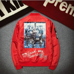 Wholesale Green Printing Services - hot sell Tide brand SUP kanye Korean baseball service ma1 pilots bf wind hip hop male tactucal jacket tide bomber yeezus champione