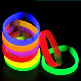 Wholesale Rave Supplies - Led Rave Toy Fluorescent bracelet for kids Lighted Toys Party supplies Fluorescent sticks Light wide bracelet Concert bracelet 1564
