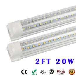Wholesale V Live - V-Shape led tube lights T8 Integration LED 2FT Tube high brightness 2 ft 20W 2400LM AC 85-265V Free shipping