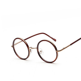 fa2a626cea9 Wholesale- Vintage Metal Eye Glasses Frames For Women Retro Designer Eyeglasses  Plain Glass Men Round Optical Glasses Frame oculos de grau