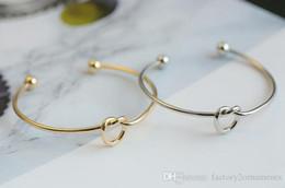 Wholesale Open Metal Ring - Fashion Metal Bracelet Knot Bracelet Female Diy Bracelet Love Hand Ring Opening Hand Jewelry Korean Women Jewelry Wholesale