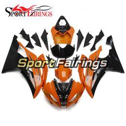 Wholesale Yamaha R6 Orange - Complete Fairings For Yamaha YZF R6 08 - 15 YZF-R6 2008 2009 2010 2012 2013 2014 2015 ABS Orange Black Motorcycle Fairing Kit Covers