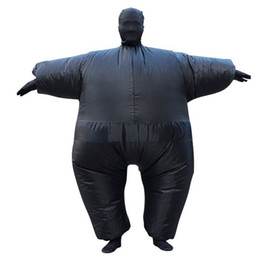 Wholesale Fat Suit Costume - Inflatable Full Body Suit Adult Blow Up Fat Club Suit Funny Inflatable Costume Halloween Party Fancy Dress Second Skin Jumpsuit
