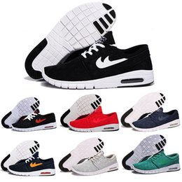 Wholesale 36 Colors Pure - 12 pure colors SB Stefan Janoski Maxes Running Shoes Men And Women Fashion Konston Lightweight Skateboard Athletic Sneakers Maxes Size 36-45