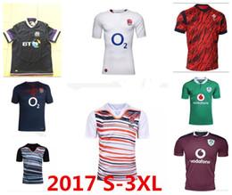 Wholesale New England Football Jersey - New Top 2017 Ireland England Scotland Wales Rugby Jersey GB Rugby Shirt Football Jerseys Men S-XXXL 2018 17 18 training Thai Quality Big 3XL