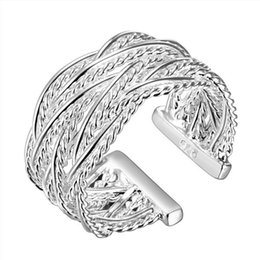 Wholesale Mesh Rings - Free shipping Small mesh sterling silver ring GR023,women's 925 silver Rrings Band Rings