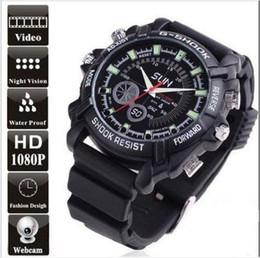 Wholesale Spy Wrist - W1000 Mini 1920*1080p HD Waterproof Spy Wrist Watch Camera DVR Hidden Video Recorder IR Night Vision