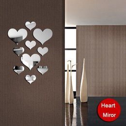 Wholesale house environmental - Environmental removable bedroom new house marriage room decorative wall mirror love Valentine's Day new 2016 European and American fashion