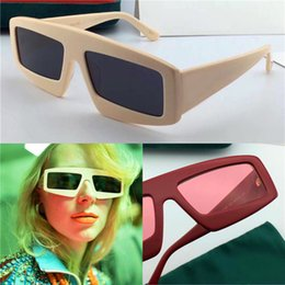 Wholesale Selling Designs - New best-selling women sunglasses specially designed popular eyewear plate frame square UV lenses top quality with original box 0432