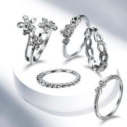 Wholesale Moissanite Diamond Earrings - Fashion New Moissanite Ring Ensemble Diamond Joint Ring combination Set For Women Custom Ring Jewelry Set