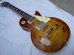 Wholesale One Piece String - Custom Tiger Flame mahogany one-piece set neck and one-piece Mahogany Body
