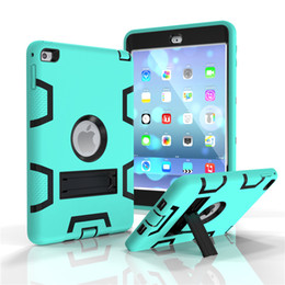 """Wholesale Ipad Tablet For Kids - For iPad mini 1 2 3 4 6 Air 2 Kids Baby Safe Armor Shockproof Heavy Duty Silicon+PC Stand Back Case Cover For ipad Pro 9.7"""" Tablet PC"""