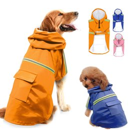 Wholesale waterproof dog coat jacket - Raincoat For Dogs Waterproof Dog Coat Jacket Reflective Dog Raincoat Clothes For Small Medium Large Dogs Labrador S-5XL 3 Colors
