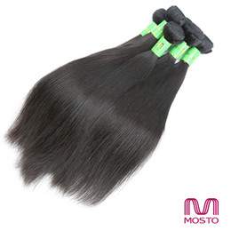 """Wholesale Nature Weave - 9pc Brazilian Hair Peruvian Hair Weave 12-30"""" 100% Human Hair Straight Hair Weaves Nature 1B MOSTO Hair extensions"""