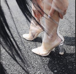 Wholesale Cheap Sexy Ankle Boots - 2016 Real Kim Kardashian Boots White Brial Wedding Boot Real Image Cheap Modest Sexy Through Chunky Heel Ladies Party Shoes Fashion Boots