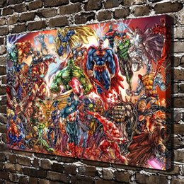 Wholesale Framed Comic - DC Universe and Marvel Comics,Home Decor HD Printed Modern Art Painting on Canvas (Unframed Framed)