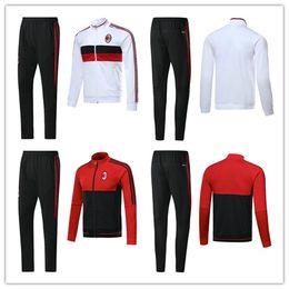 Wholesale Soccer Tracksuit Free Shipping - top thai quality soccet jacket 2017 2018 AC milan jackets kits 17 18 MENEZ HONDA BACCA tracksuit jacket Sweatshirt free shipping